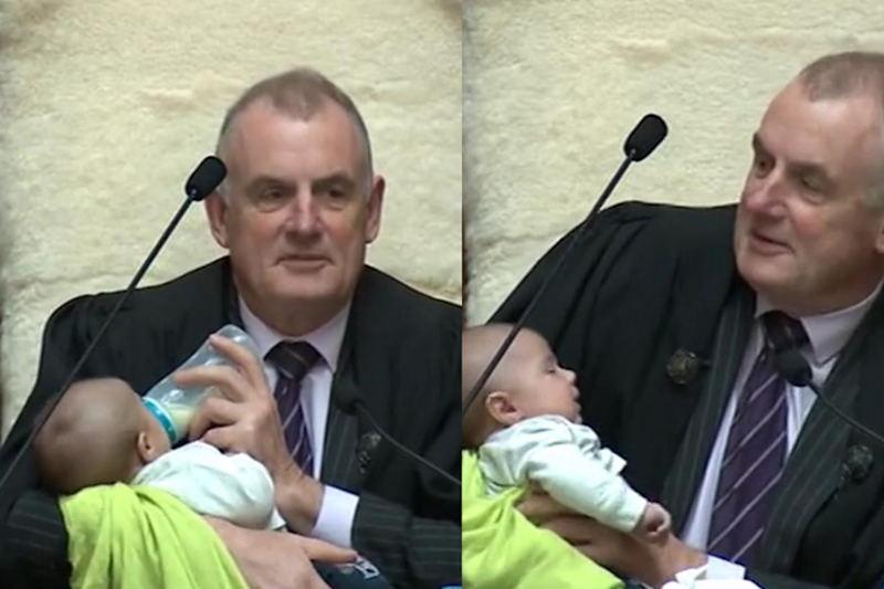 New Zealand Speaker Cradling and Feeding Baby During Parliament Session Goes Viral