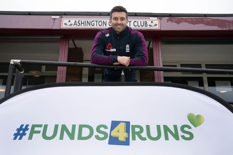 Mark Wood visits his home club, Ashington CC in Northumberland, to launch #Funds4Runs, which is a £1million investment jointly funded by the England and Wales Cricket Board and LV= General Insurance