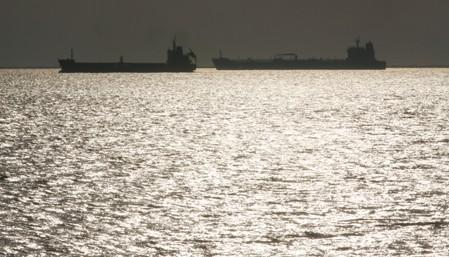 Oil tankers sit anchored off the Fos-Lavera oil hub near Marseille