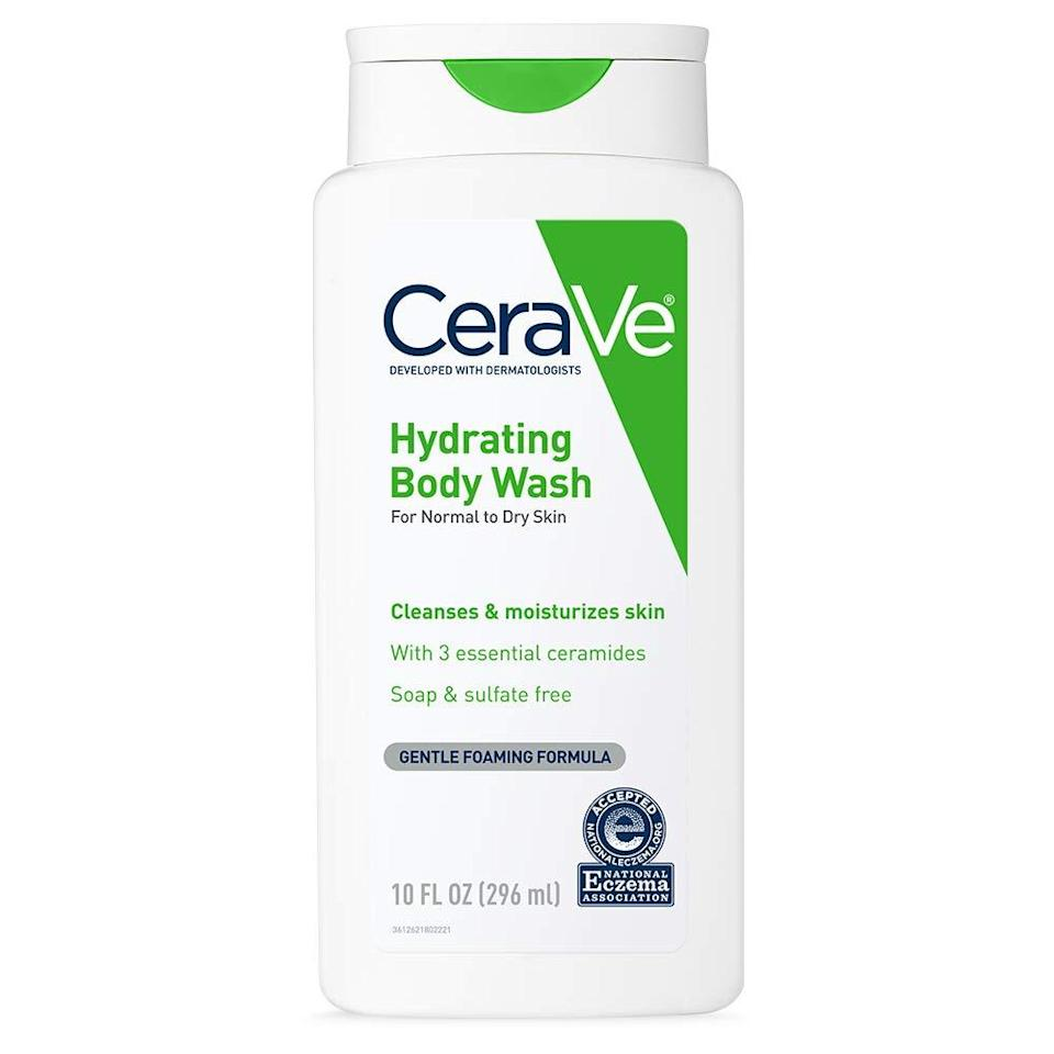 CeraVe Body Wash for Dry Skin, best unscented body wash