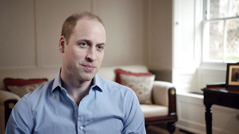 Prince William spoke of the anguish of his mother's death (Picture: BBC)