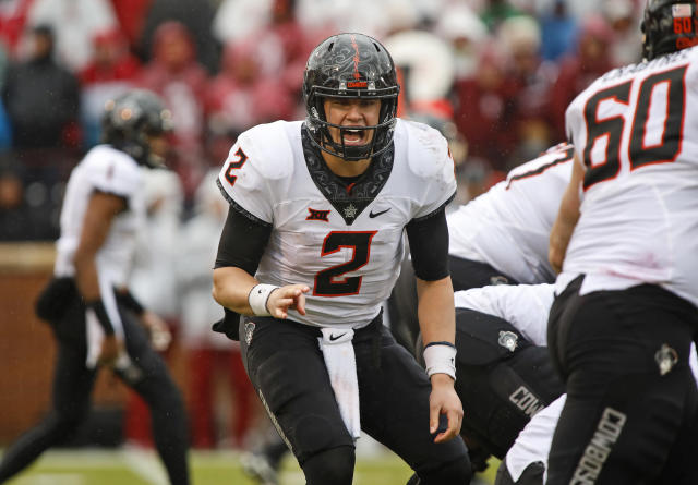 "<a class=""link rapid-noclick-resp"" href=""/ncaaf/players/239330/"" data-ylk=""slk:Mason Rudolph"">Mason Rudolph</a> threw 28 touchdowns and just four interceptions in 2016. (Getty)"