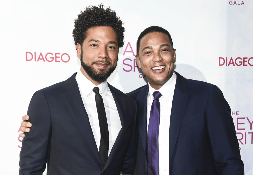 CNN's Don Lemon, right, with <em>Empire</em> actor Jussie Smollett at the 2018 Ailey Spirit Gala Benefit on June 14, 2018. (Photo: Daniel Zuchnik/Getty Images)