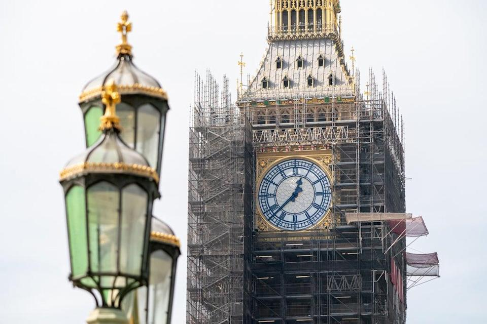 Scaffolding is starting to come down, revealing Big Ben's makeove (PA Wire)