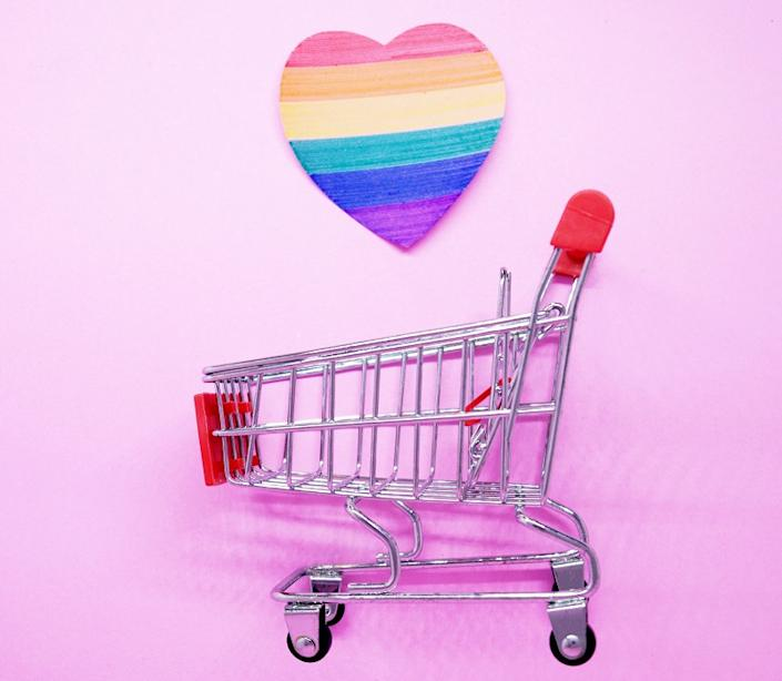 Take your pick from pride-themed badges, socks and totes to sustainable clothes and jewelry.