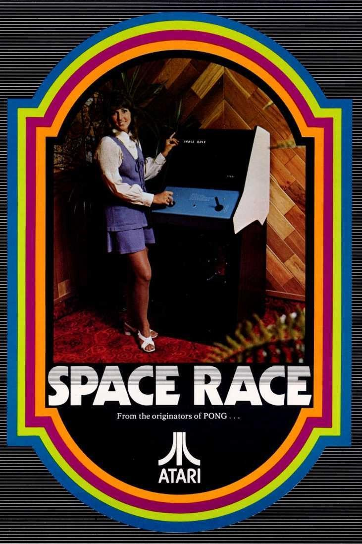 <p>Less remembered that its popular forebear, <em>Space Race</em> was Atari's sophomore game, released in the summer of 1973, and was the first racing game ever made. The point of the game is to get from the bottom of your screen to the top without hitting any asteroids (represented by simple dashes). It's not the most complex game ever made, then again, there weren't many others to compare it to.<br></p>