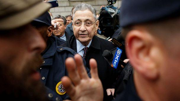 PHOTO:Former New York Assembly Speaker Sheldon Silver is surrounded by media and USMS police court while he exits federal court in Lower Manhattan, May 3, 2016, in New York. (Eduardo Munoz Alvarez/Getty Images)