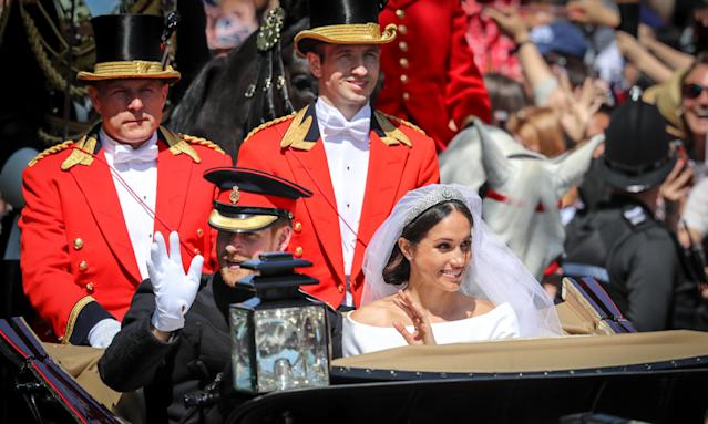 The newlyweds have a major feast planned for their lunchtime reception. (Photo: Matt Cardy/Getty Images)