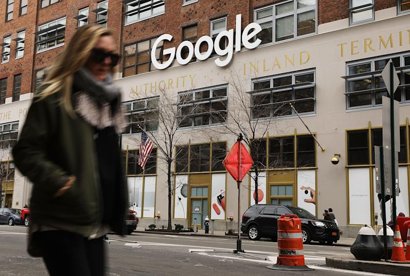 NEW YORK, NY - MARCH 05: Google's New York office is shown in lower Manhattan on March 5, 2018 in New York City. Published reports say that the tech giant is close to a reaching a $2.4 billion deal to buy the landmark Chelsea Market building. The building, a block-long former Nabisco factory that is named after its ground-floor gourmet food mall, sits directly across from Google's current New York City headquarters in the Meatpacking District. If the sale goes through, it would be one of the most expensive real estate transactions for a single building in New York City history. (Photo by Spencer Platt/Getty Images)