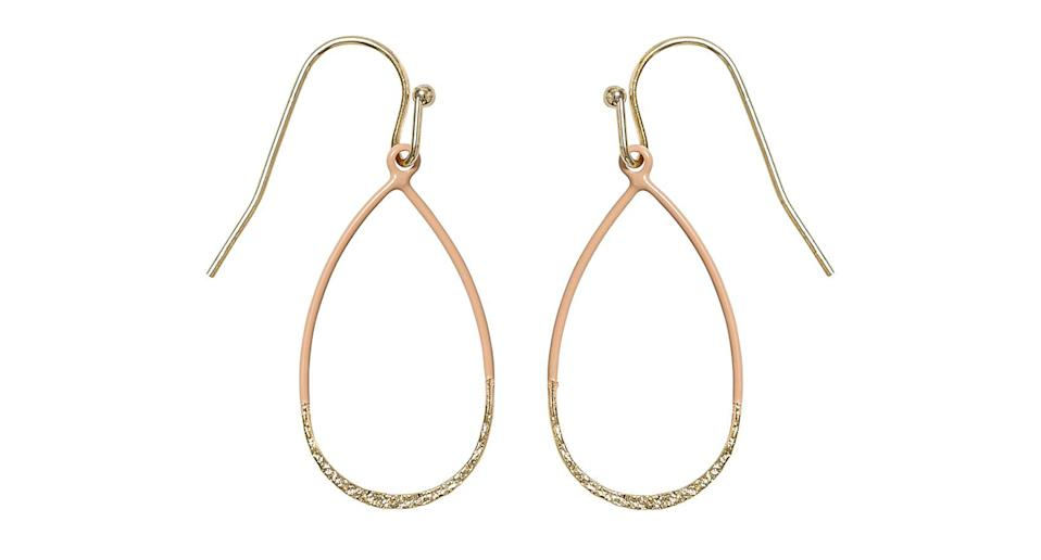 """We still can't believe how low the price tag on this pair of earrings is - they look like they cost far more than £9.50. Perfect if you're attempting to keep your spending low this Christmas. <a href=""""https://fave.co/2LID0DF"""" rel=""""nofollow noopener"""" target=""""_blank"""" data-ylk=""""slk:Shop now."""" class=""""link rapid-noclick-resp""""><strong>Shop now.</strong></a>"""