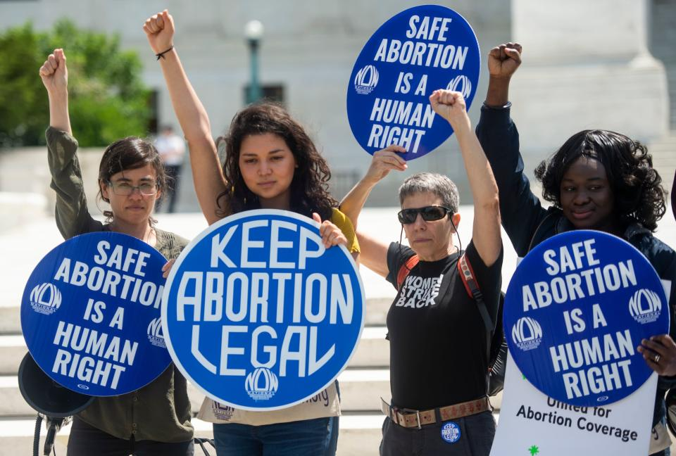 Abortion rights activists rallied in front of the US Supreme Court in Washington, DC, in May 2019 after the state of Alabama passed the country's most restrictive abortion ban. (Photo: ANDREW CABALLERO-REYNOLDS/AFP via Getty Images)