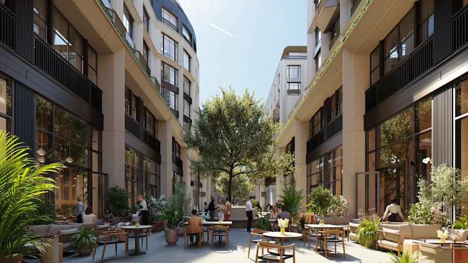 <p>How the interior courtyard will look</p>The Whiteley