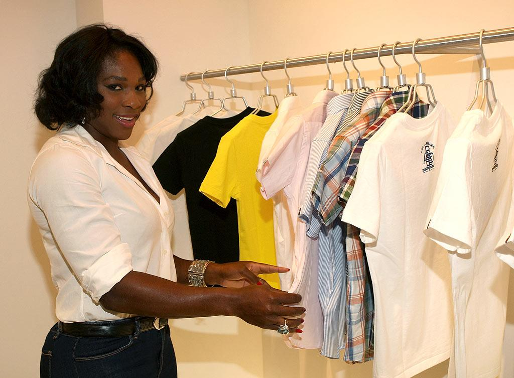 "Tennis ace Serena Williams pops by to do a little shopping. The eight-time Grand Slam champ can afford anything she wants; she's the second highest paid female athlete in the world, trailing only fellow ball buster, Maria Sharapova. Arnold Turner/<a href=""http://www.wireimage.com"" target=""new"">WireImage.com</a> - April 23, 2008"