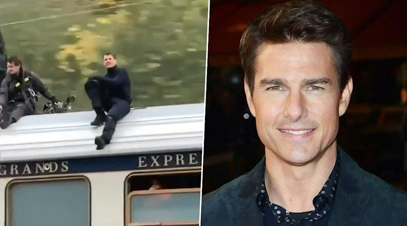 Mission Impossible 7: Tom Cruise's Stunt Atop A Speeding Train in Norway Goes Viral From Sets (Watch Videos)