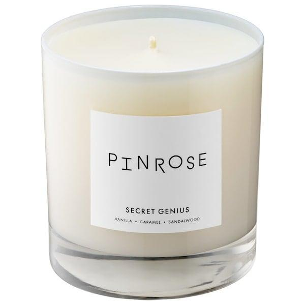 <p>This <span>Pinrose Secret Genius Candle</span> ($49) keeps your desk area smelling sweet (with vanilla, caramel, and sandalwood) and can inspire your own not-so-secret genius in the process.</p>