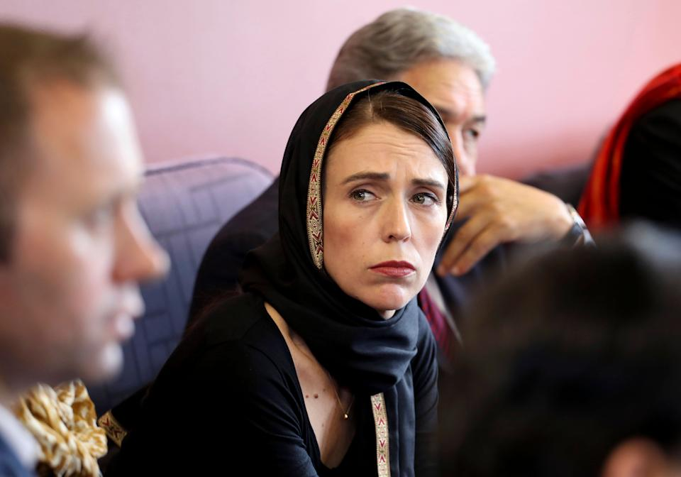 Prime Minister Jacinda Ardern meets representatives of the Muslim community in March following the Christchurch mosque shooting. Source: AAP