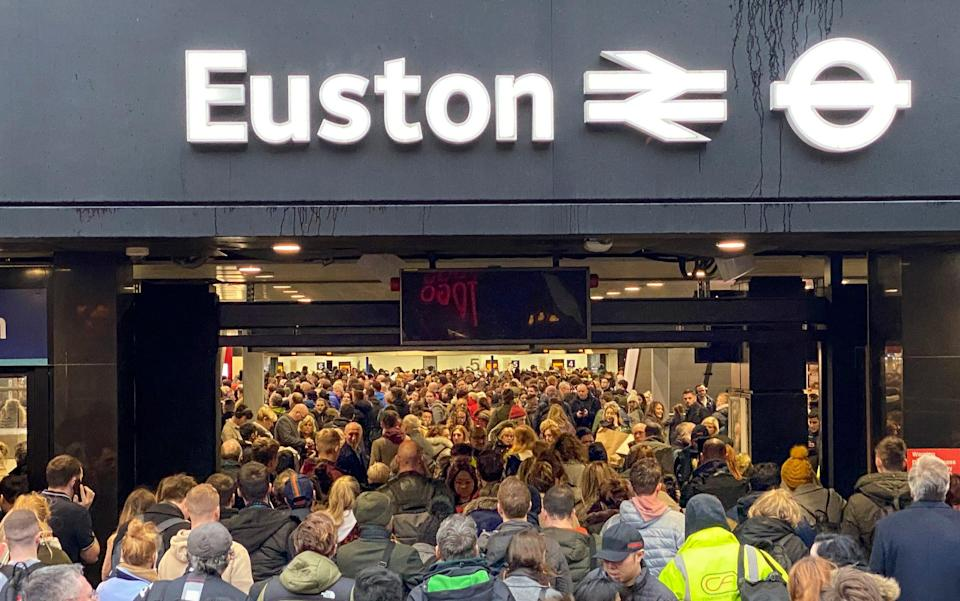 Commuters at Euston before the pandemic struck - Jeff Moore