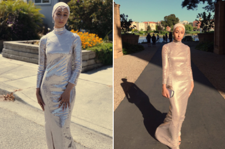 Teen's mom made her jaw-dropping dress.
