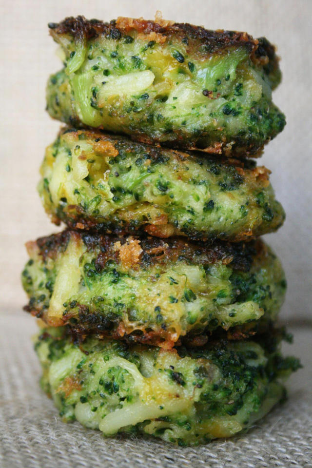 "<p><a href=""http://kosherinthekitch.com/"">Kosher in the Kitch</a>'s Nina Safar goes easy on the potato in this vibrantly hued recipe for broccoli latkes. Although crispy on the outside, an infusion of cheddar cheese ensures they're melty and gooey within. <a href=""https://www.yahoo.com/food/broccoli-cheddar-latkes-from-kosher-in-the-kitch-105477204986.html"">Get the recipe here.</a> <i>(Photo: Nina Safar)</i><br /></p>"