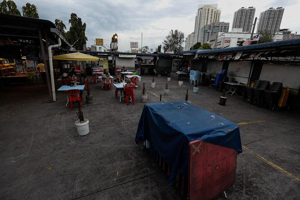 Gurney Drive Hawker Centre is eerily quiet, a far cry from the days when the place used to be packed with visitors.