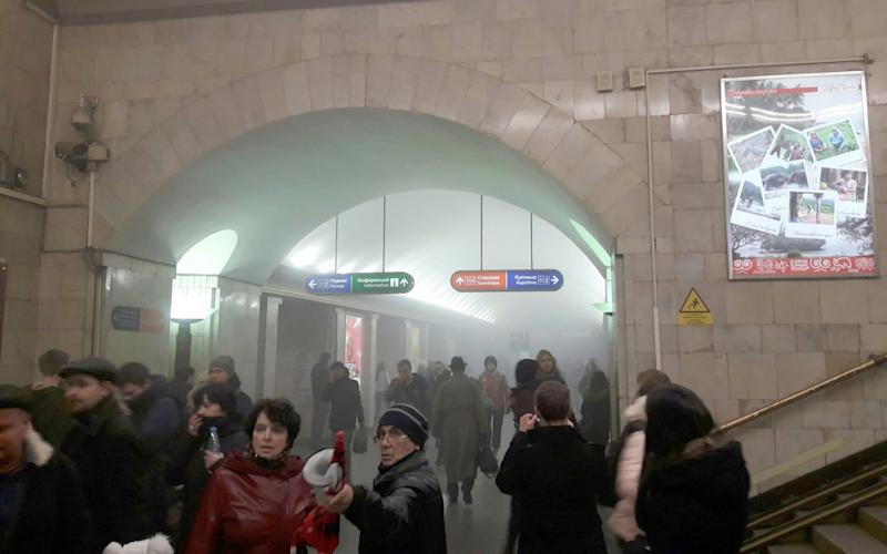 The aftermath of the explosion on the St Petersburg Metro - Credit: east2west news