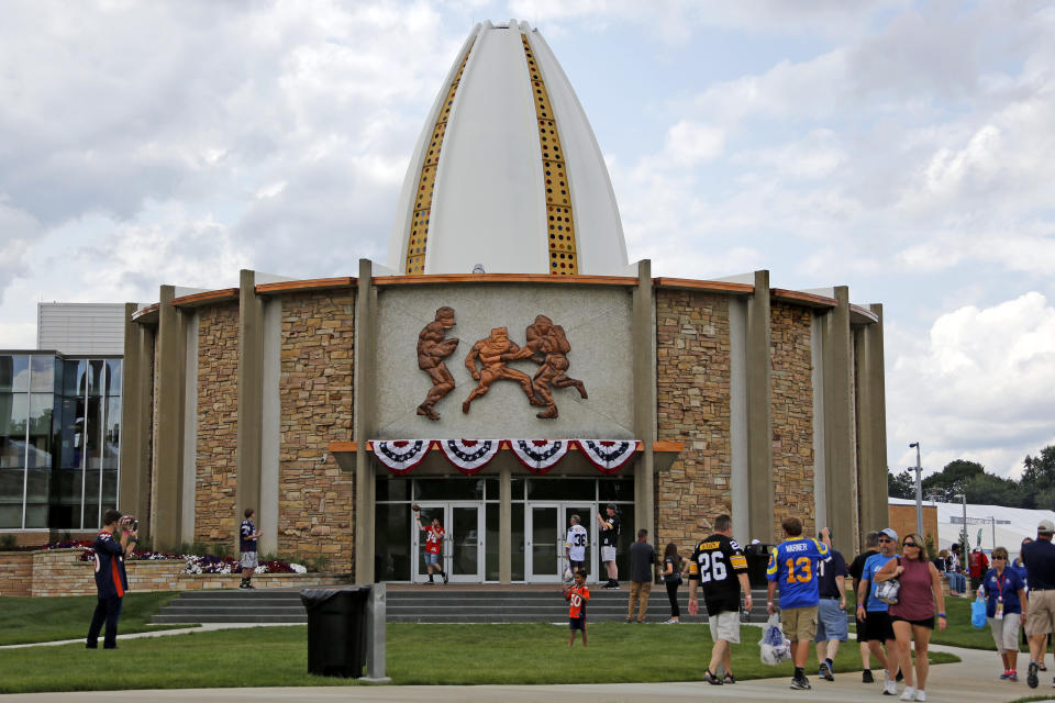 The Pro Football Hall of Fame in Canton, Ohio will add 20 new members in 2020. (AP)