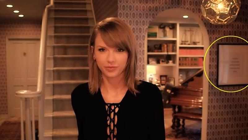 Hey Tay, what's that framed photo in the background? Source: Vogue