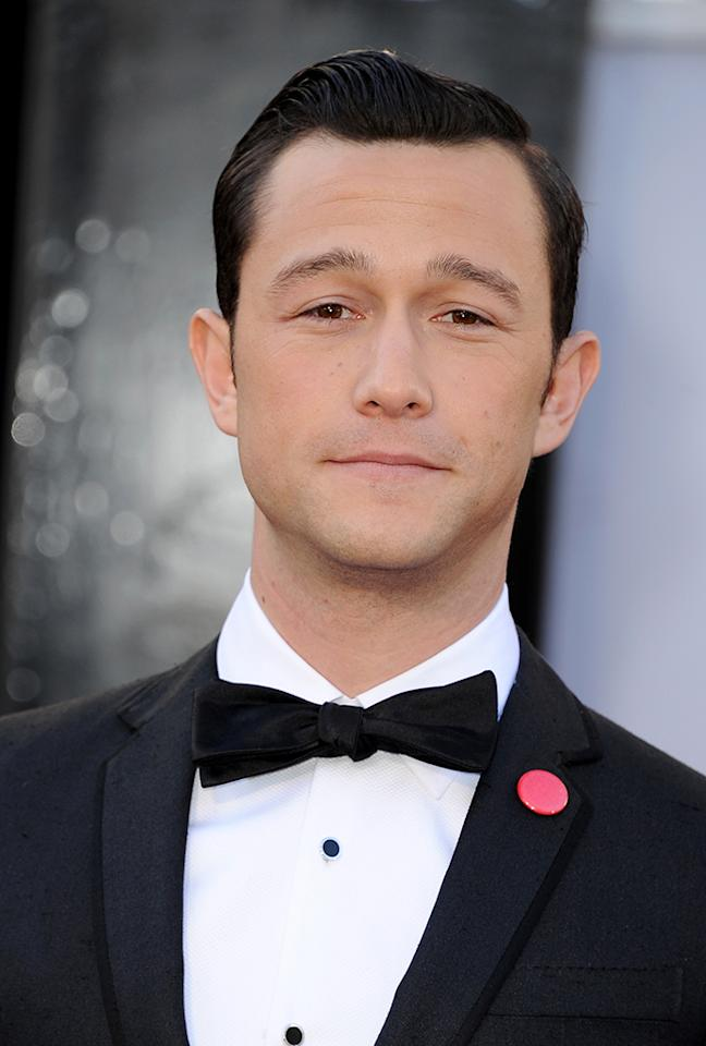 Joseph Gordon-Levitt arrives at the Oscars in Hollywood, California, on February 24, 2013.
