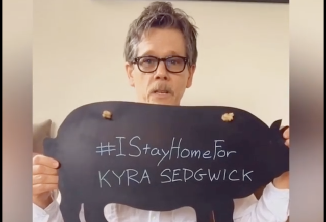Kevin Bacon is staying home for wife Kyra Sedgwick amid the coronavirus pandemic. (Kevin Bacon via Instagram)