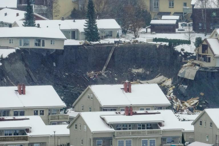 "Norway's Prime Minister Erna Solberg travelled to Gjerdrum and described the landslide as ""one of the largest"" the country had seen."