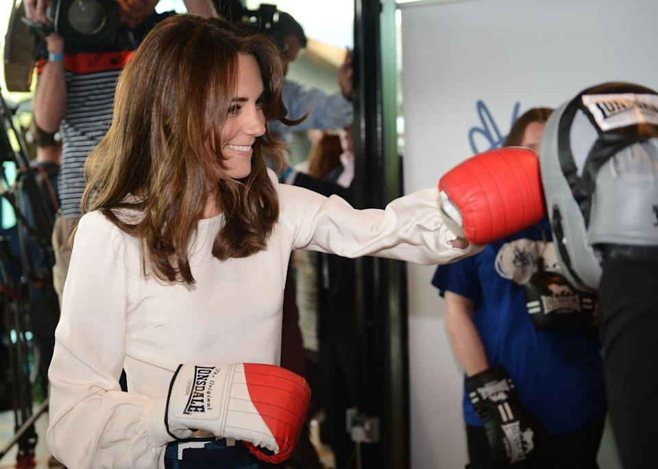 <p>Kate threw some punches at the launch of the Heads Together campaign on mental health. One could say the Duchess was literally fighting mental health stigma. </p>