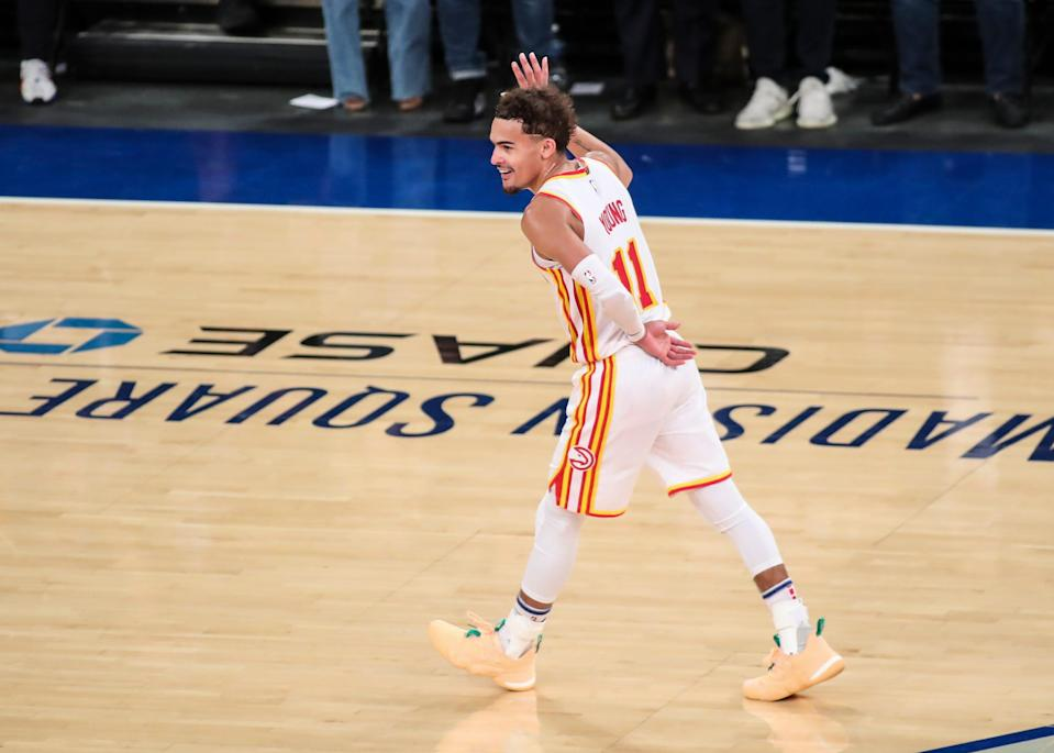 Trae Young is averaging 29.2 points and 9.8 assists in his first playoff experience.