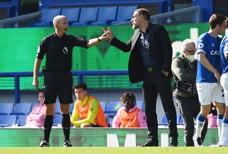 West Brom's Bilic charged with improper conduct after red card at Everton