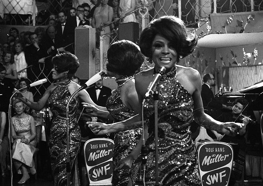 "<div class=""caption-credit""> Photo by: AP</div><div class=""caption-title""></div>On stage with the Supremes at a party in West Germany, 1968 <br> The matching sequin halter gowns are very Destiny's Child, only dare we say much prettier. <br> <br>"