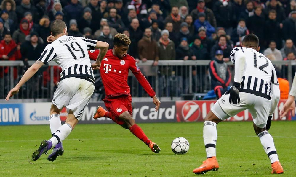Kingsley Coman (centre) has been on loan at Bayern Munich from Juventus for two seasons – and Pep Guardiola is ready to pounce.