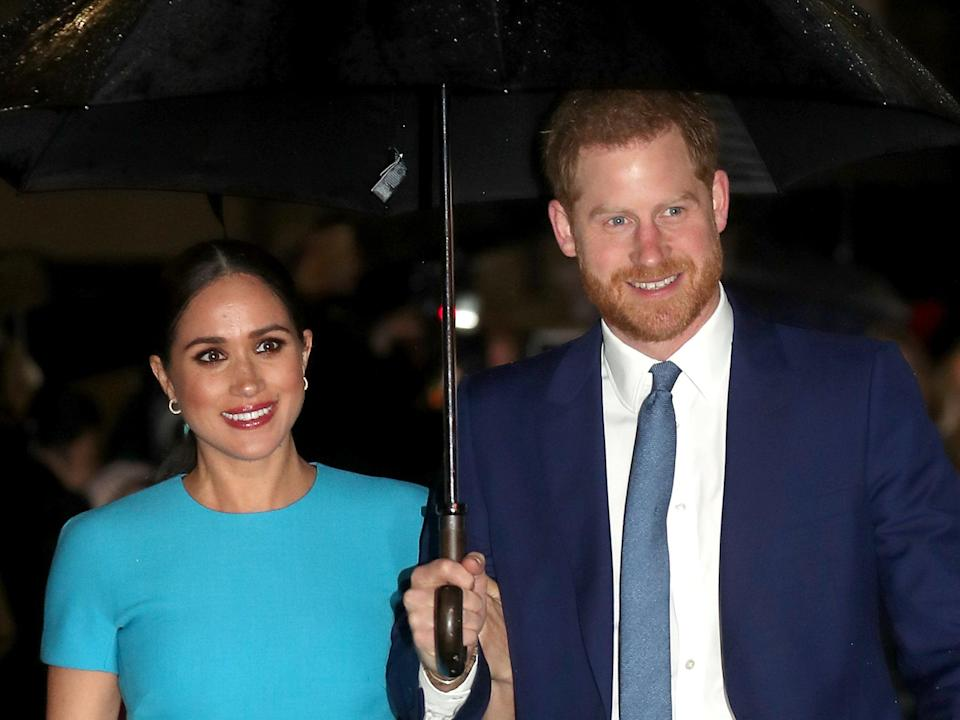 Prince Harry, Duke of Sussex and Meghan, Duchess of Sussex in March 2020 (Getty Images)
