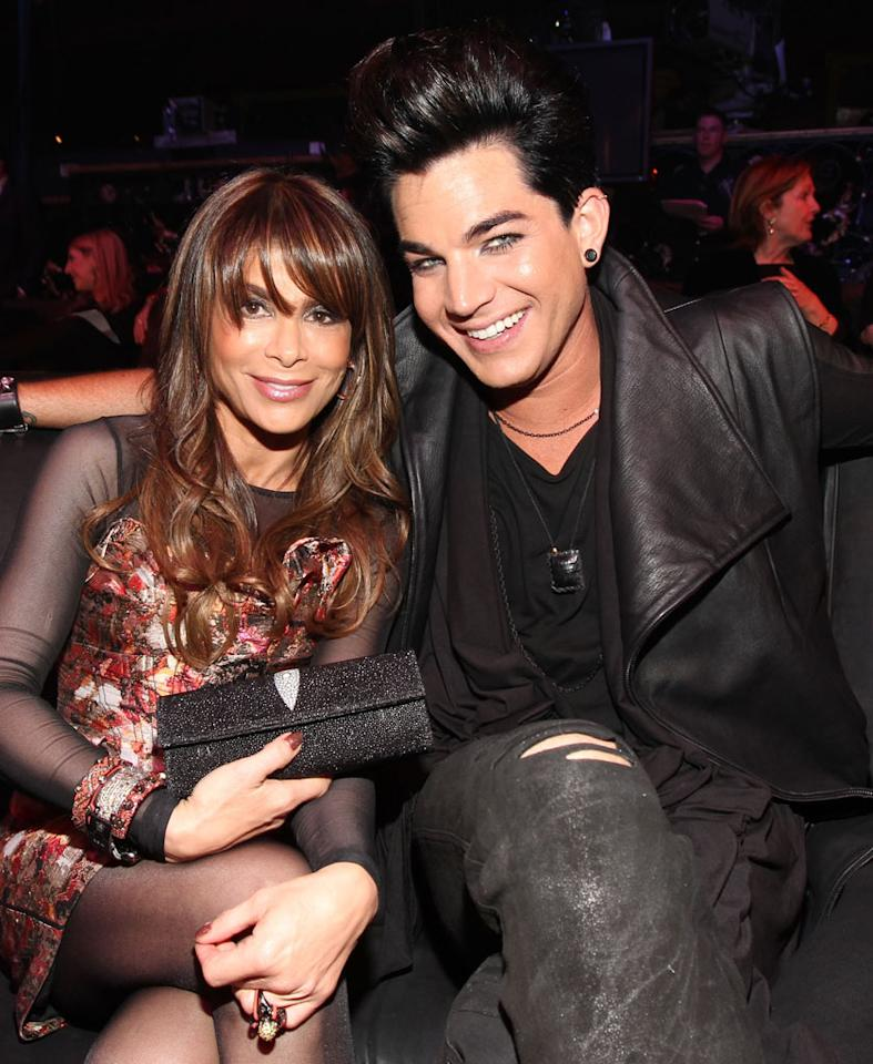 """""""American Idol"""" pals Adam Lambert and Paula Abdul were also spotted catching up at the event. Think they discussed Pia Toscana's shocker of an elimination? Christopher Polk/<a href=""""http://www.gettyimages.com/"""" target=""""new"""">GettyImages.com</a> - April 7, 2011"""