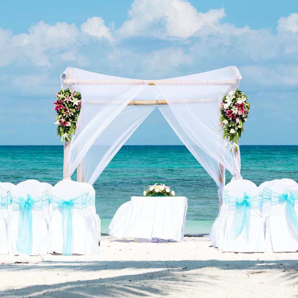 "<p>If you're set on getting married somewhere exotic, select a spot with lots to do right where guests are staying. ""Weddings at beach resorts make things a lot easier since guests typically don't leave the resort to venture out,"" says Millie Abadi, a destination wedding and travel planner at <a rel=""nofollow"" href=""http://www.travelbyetc.com/"">Travel By ETC</a>. ""We love doing weddings in the Caribbean at a beautiful resort for that reason. Offering guests some options for those who don't like sunbathing is a good idea, too - maybe golf, tennis, or something authentic to the destination like a local market."" </p><p><span></span><span><strong>RELATED: <a rel=""nofollow"" href=""http://www.redbookmag.com/love-sex/a49585/wedding-traditions/"">7 Wedding Traditions That Have Virtually Disappeared Over The Last Century</a> </strong></span></p>"