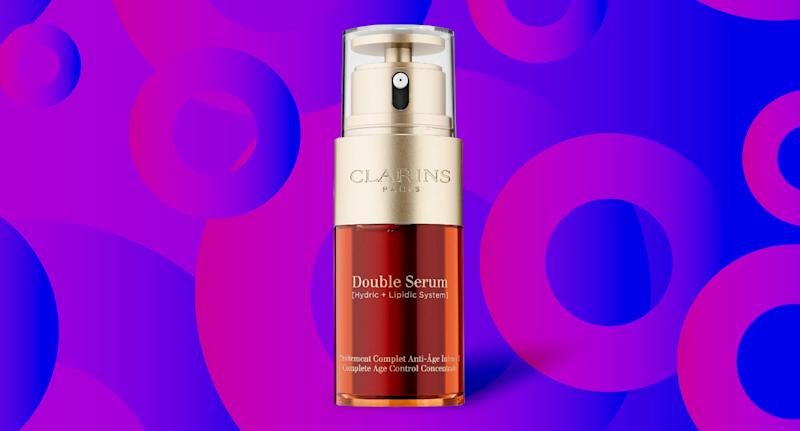The iconic Clarins Double Serum has been an anti-aging favorite for years. (Photo: Walmart; Yahoo Lifestyle)