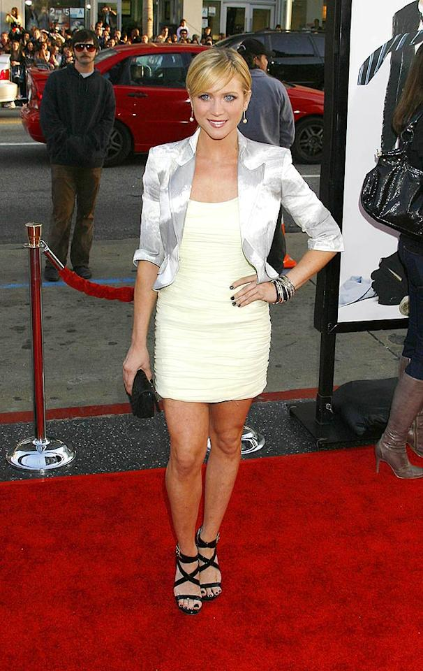 "Brittany Snow is super cute, but she soiled the ensemble she wore to the ""17 Again"" premiere by sporting black strappy Jimmy Choo sandals with her summery Erin Fetherston chiffon mini. Jeffrey Mayer/<a href=""http://www.wireimage.com"" target=""new"">WireImage.com</a> - April 14, 2009"
