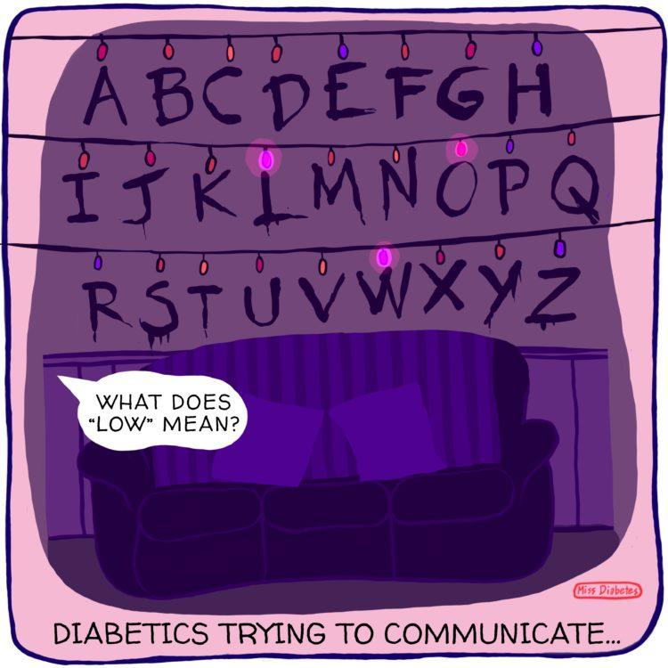 diabetics trying to communicate, alphabet christmas lights