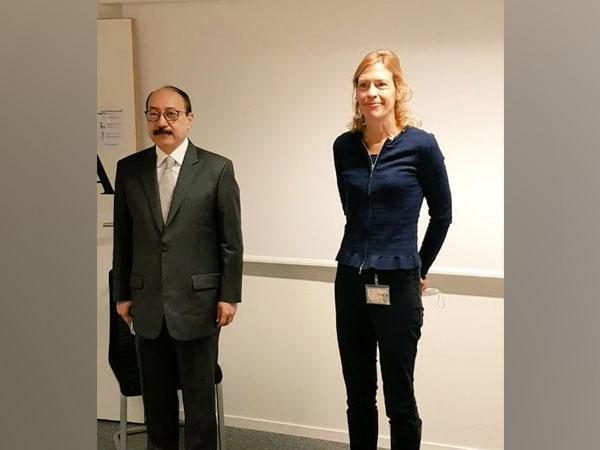 Foreign Secretary Harsh Vardhan Shringla on Friday had a meeting with Alice Guitton, France's Director-General of International Relations and Strategy (DGRIS)