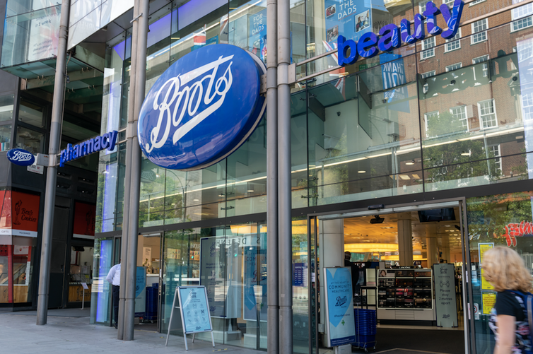 A branch of Boots on a British high street.