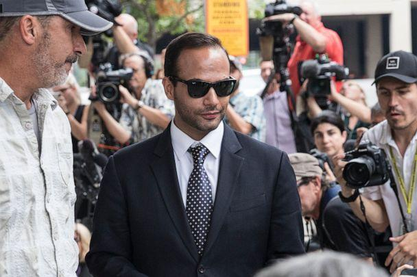 PHOTO: Former Trump Campaign aide George Papadopoulos leaves the U.S. District Court after his sentencing hearing in Washington, D.C., Sept. 7, 2018. (Alex Wroblewski/Getty Images, FILE)