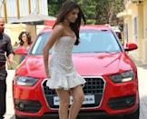 A bright red Audi SUV is her car of choice. Tara drives a Q3, which is Audi's luxury SUV with a youthful vibe. A rather perfect choice for Tara, we must say!