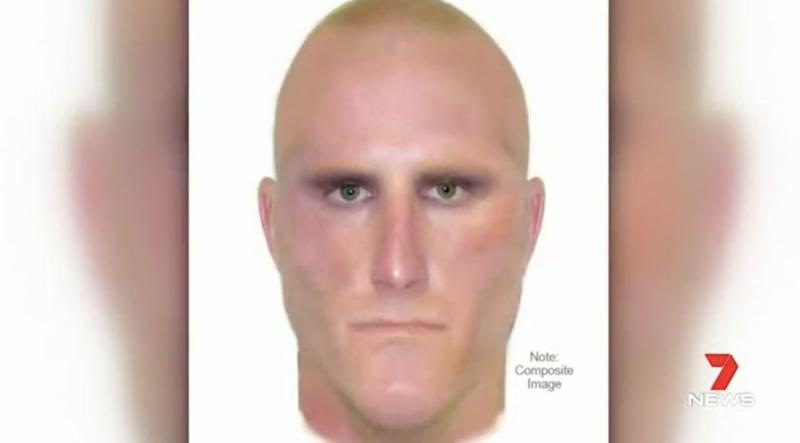 A composite image of the attacker. Source: 7 News