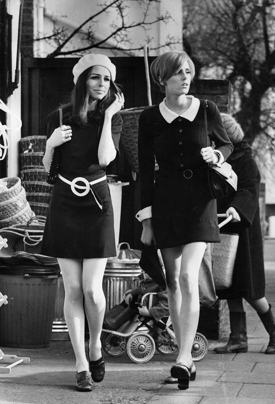 <p>Once again, hemlines were on the rise. Throughout the '60s and by 1965, miniskirt mania was at its peak. The mod look wasn't complete without a chunky low heel or a knee-high boot and perhaps a beret, for good measure. </p>