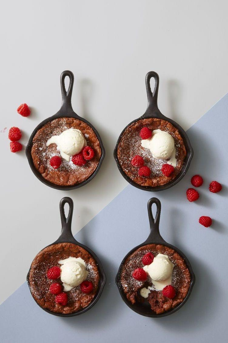 """<p>These Pinterest-worthy chocolate desserts are actually gluten-free.</p><p><em><a href=""""https://www.goodhousekeeping.com/food-recipes/dessert/a42823/molten-chocolate-skillet-brownies-recipe/"""" rel=""""nofollow noopener"""" target=""""_blank"""" data-ylk=""""slk:Get the recipe for Molten Chocolate Skillet Brownies »"""" class=""""link rapid-noclick-resp"""">Get the recipe for Molten Chocolate Skillet Brownies »</a></em></p>"""