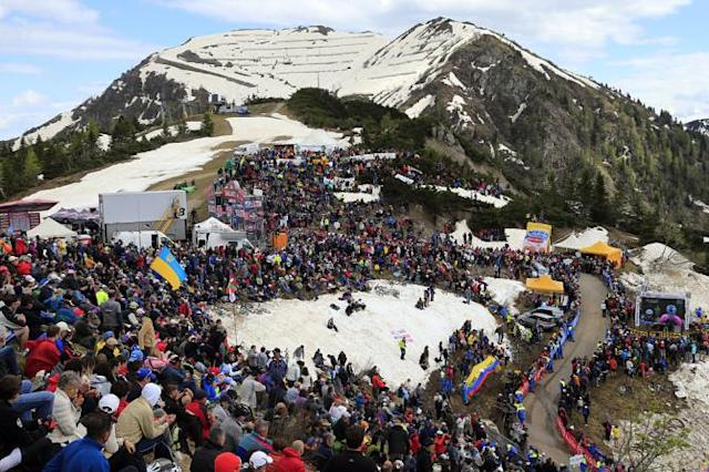 The Monte Zoncolan surely sank a millimeter or two under the weight of the thousands of fans