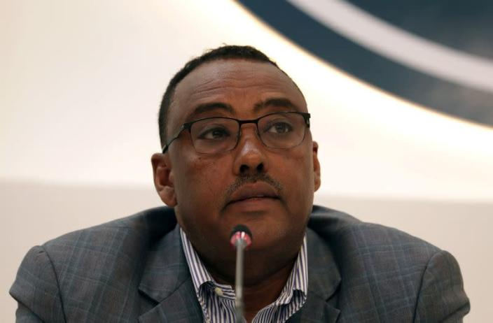 FILE PHOTO: Deputy Prime Minister of Ethiopia Demeke Mekonnen, gives a press briefing on the current situation of the country at the Prime Minister office in Addis Ababa